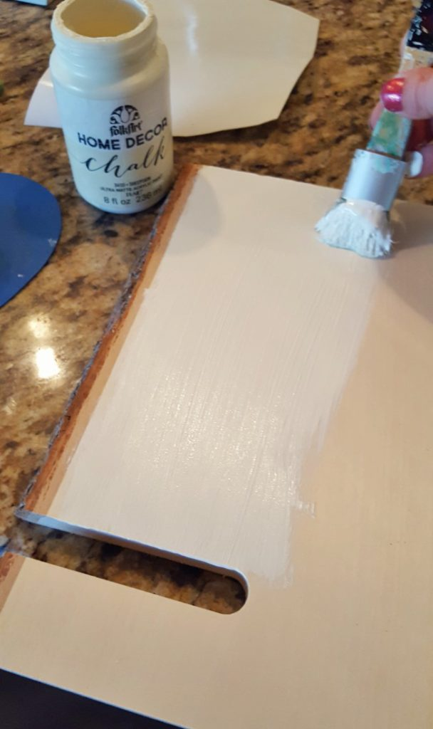 Painting a DIY tablet stand