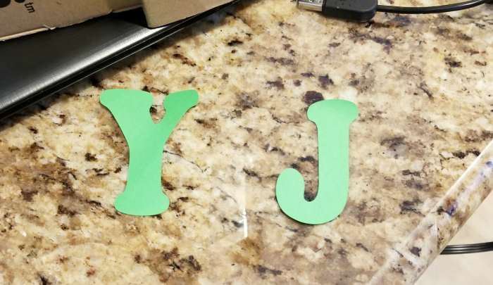 Joy sign staircase decor
