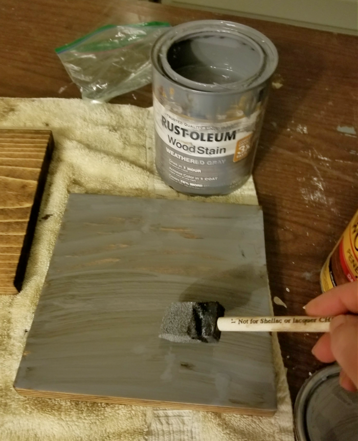 staining wood with weathered gray