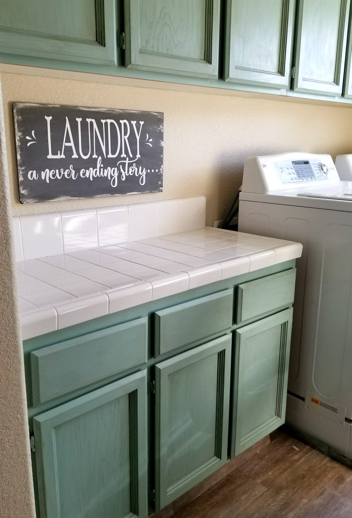painting laundry room cabinets with renaissance chalk paint