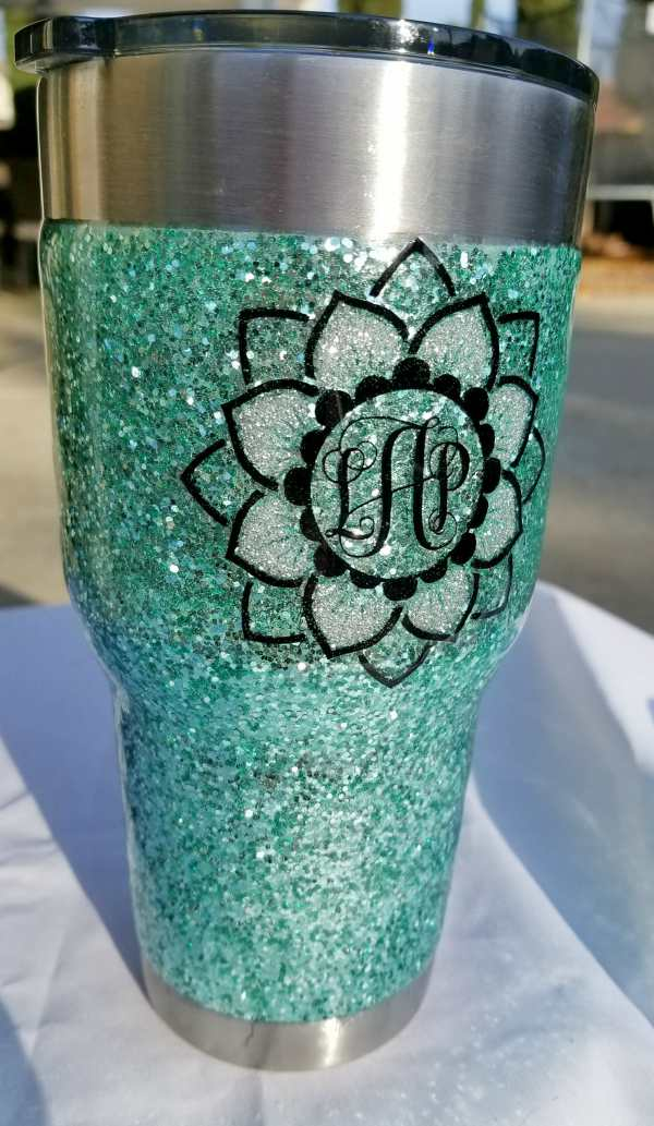 Glitter Tumbler Step by Step Pics and Video Tutorial! - Leap