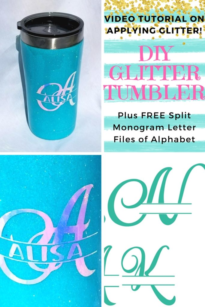 Free Script Split Letter Monogram To Personalize Anything Leap Of Faith Crafting