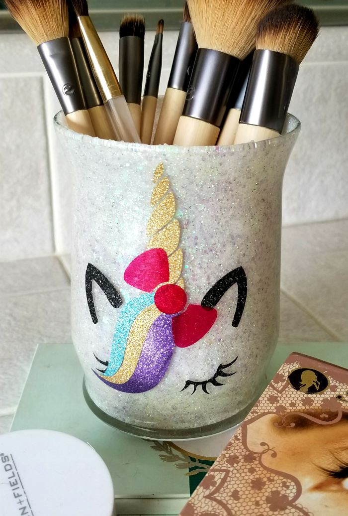 makeup brush holder diy