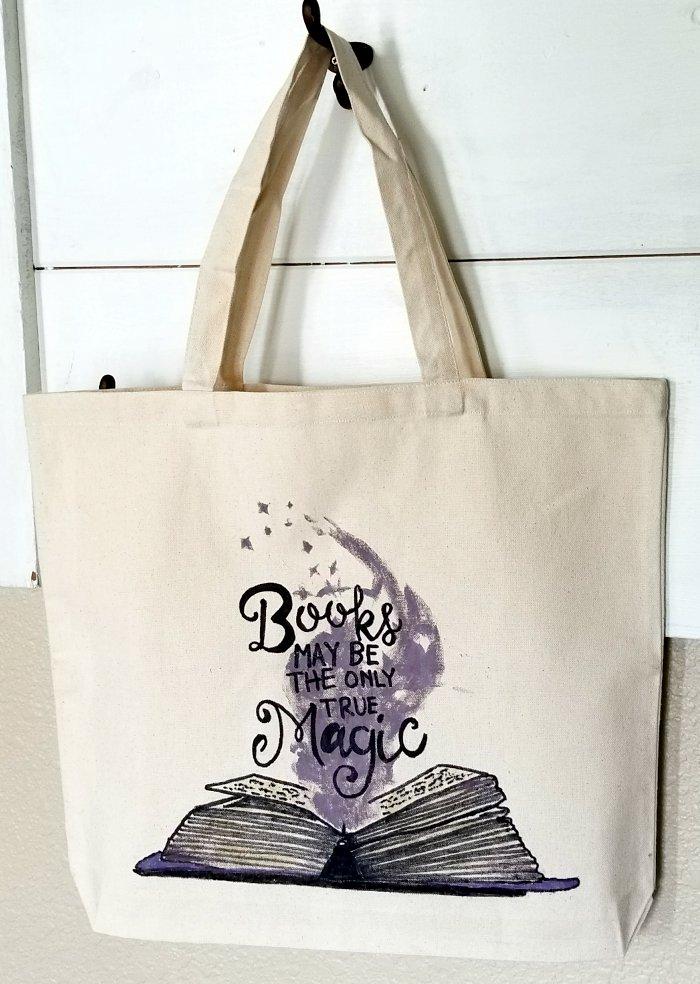 diy harry potter book bag