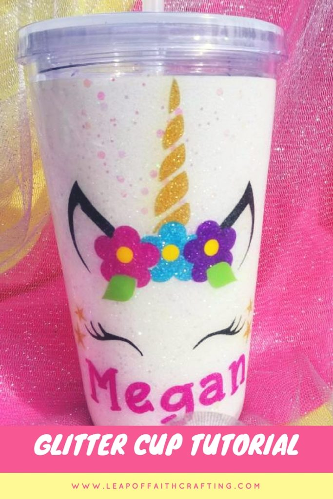 personalized glitter tumbler diy