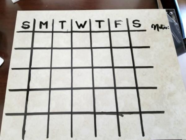 diy dry erase calendar acrylic