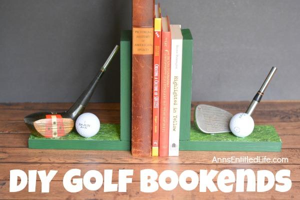 diy golf bookends horizontal