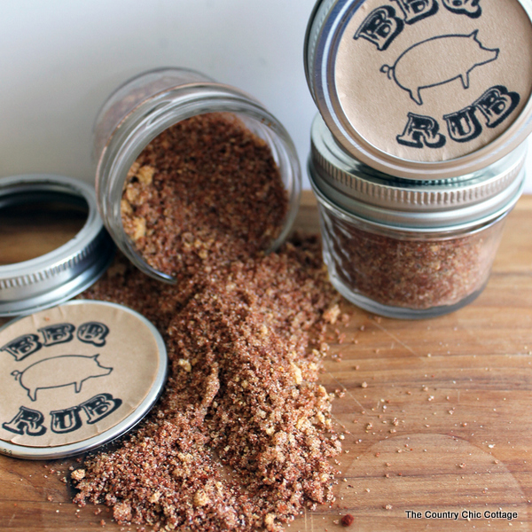 fathers day bbq rub gift in a jar