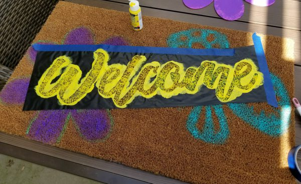coir doormat welcome