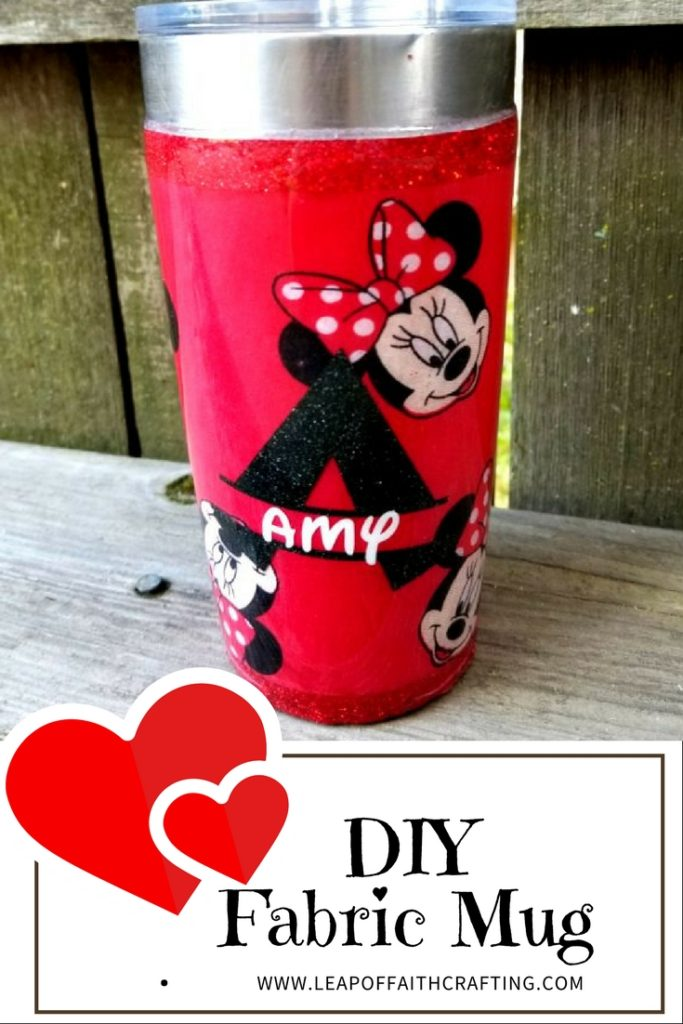 minnie mouse diy fabric tumbler