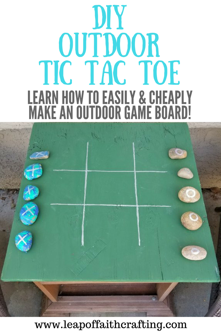 diy tic tac toe pin