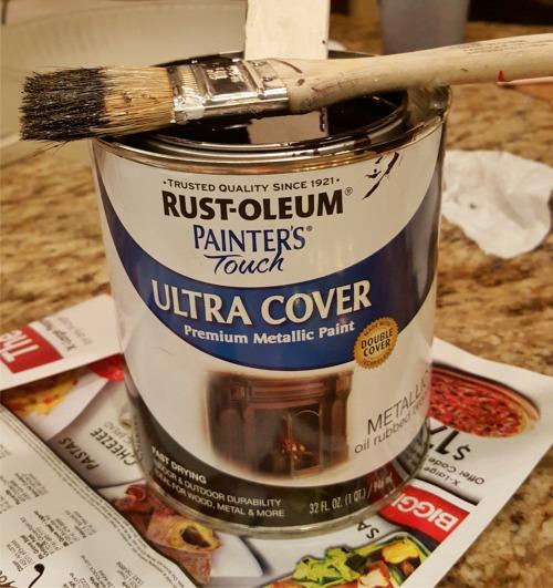 painting brass light fixtures