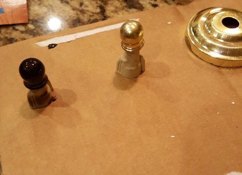 painting brass light fixtures
