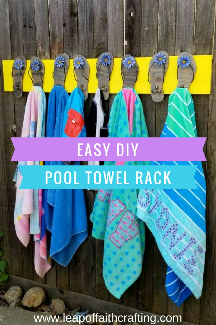 pool towel holder diy pin