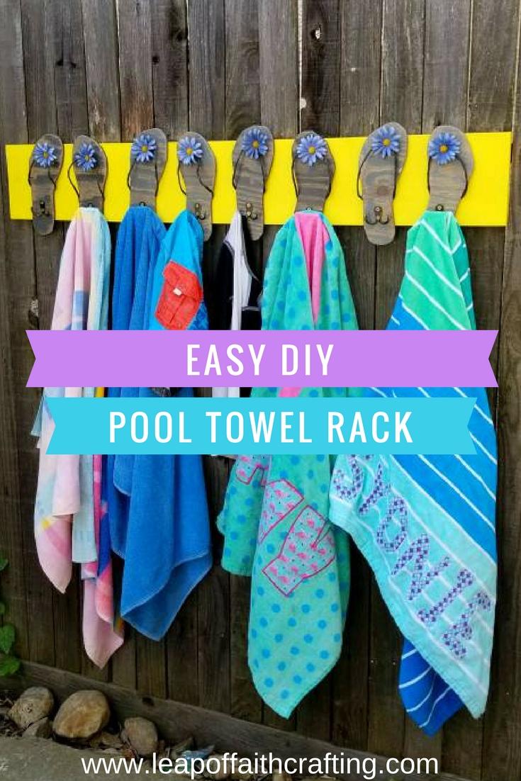 pool towel holder diy pin