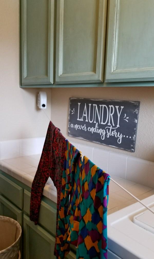retractable laundry line