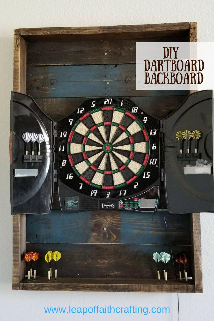dartboard backboard diy pin