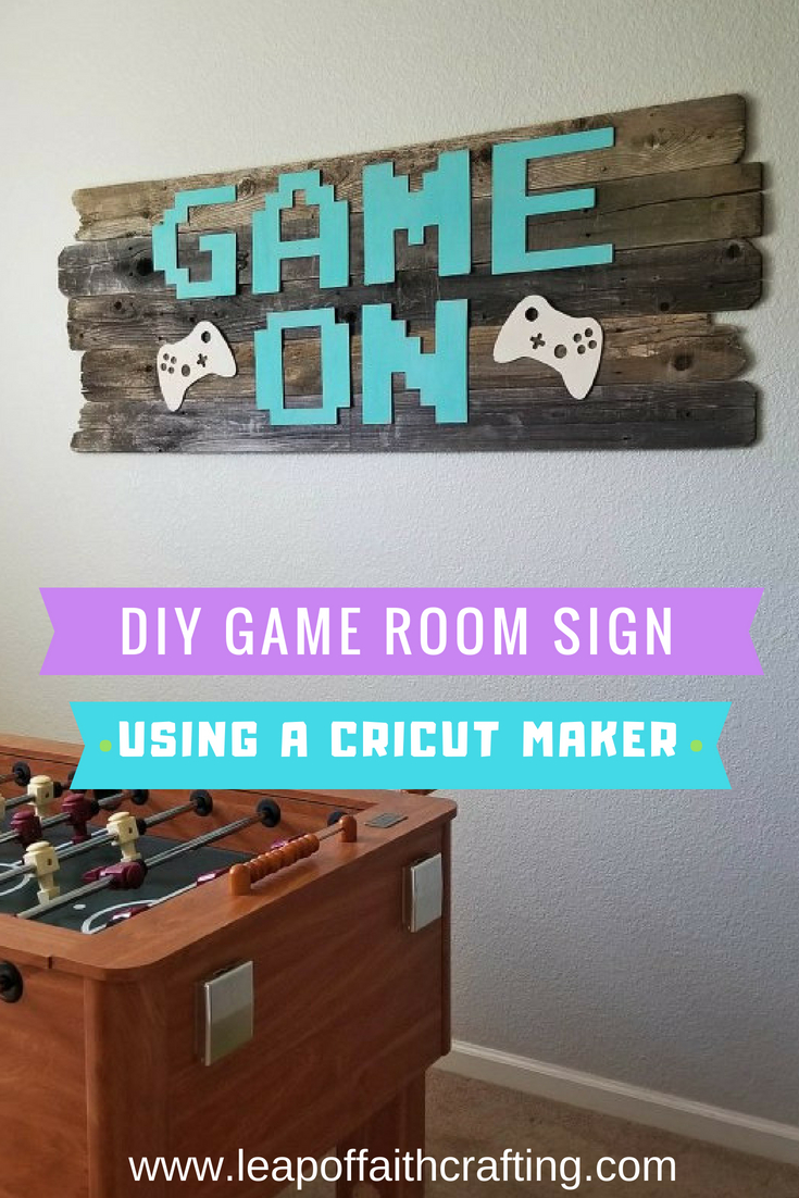 game room sign pin