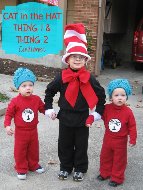 cat in the hat thing and thing costumes