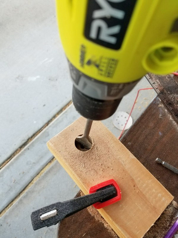 drilling 1 inch hole in wood
