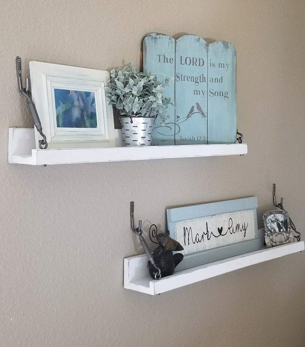 diy rustic shelves