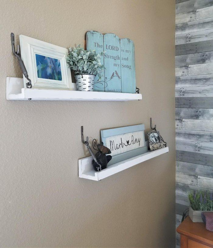 homemade wall shelves farmhouse style