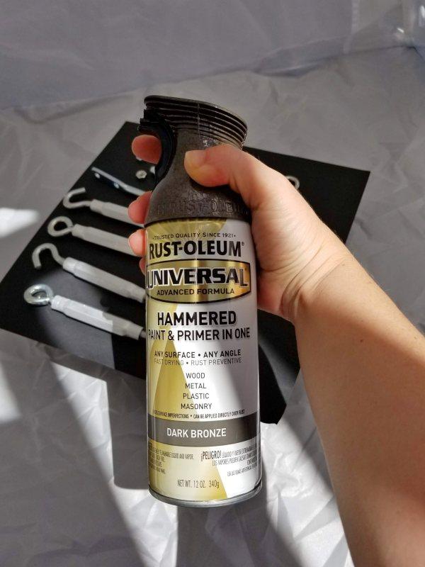 rustoleum hammered dark bronze spray paint