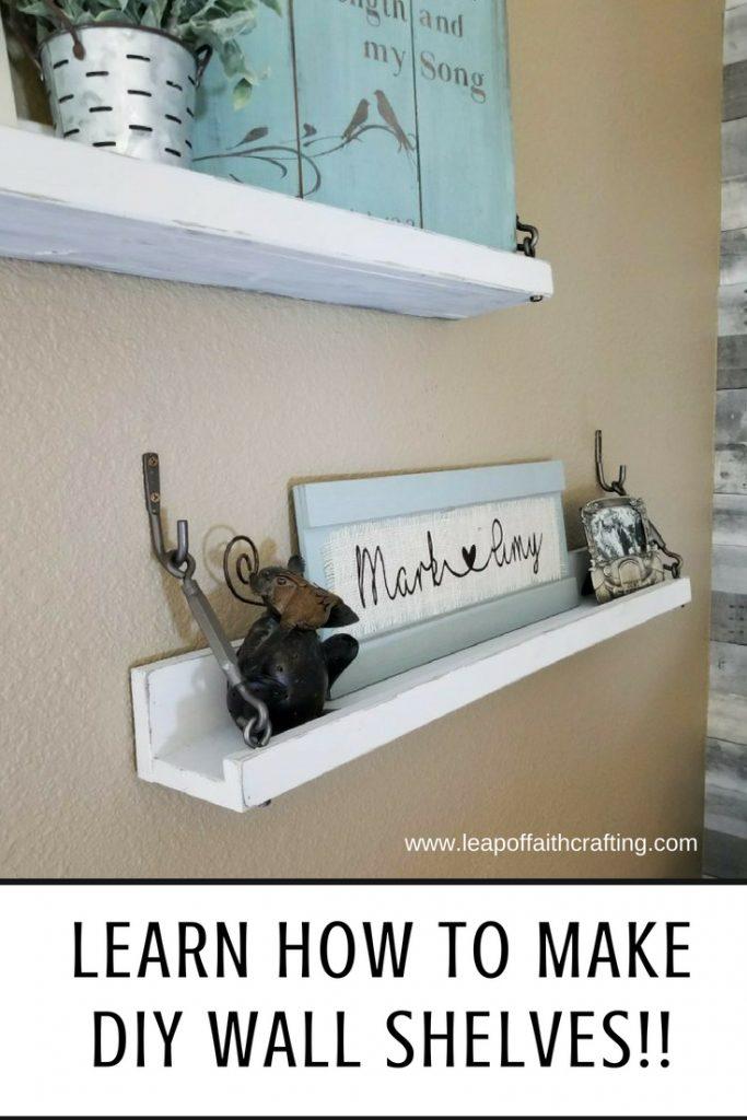 diy wall shelves easy pin