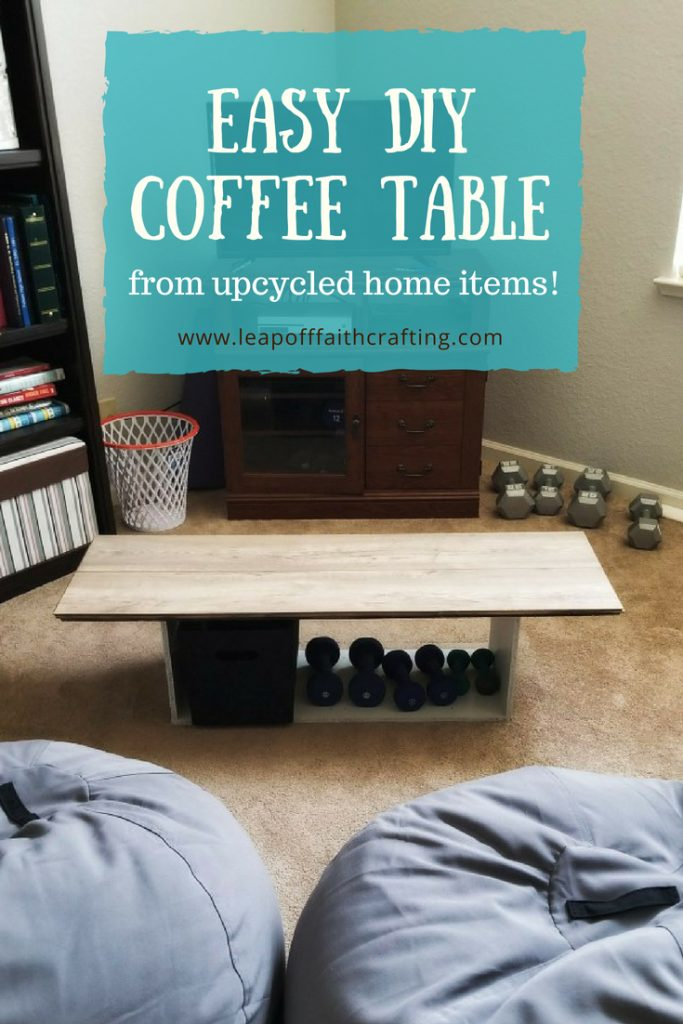 Easy Diy Coffee Table Using Recycled Household Items Leap