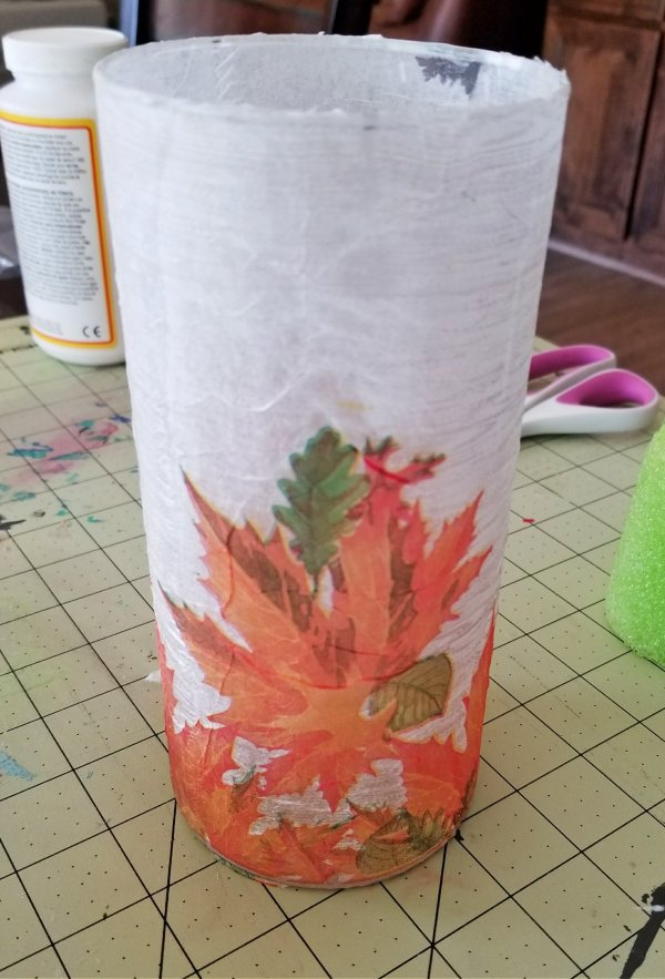 decoupage glass tutorial