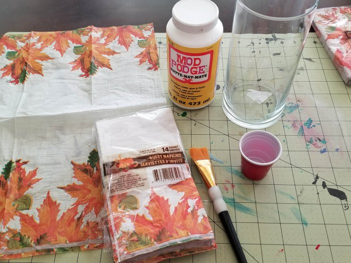 decoupage napkin tutorial