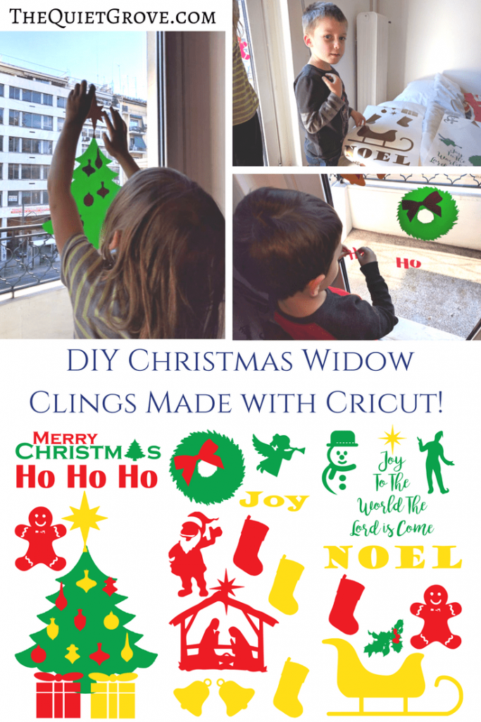 diy christmas widow clings made with cricut