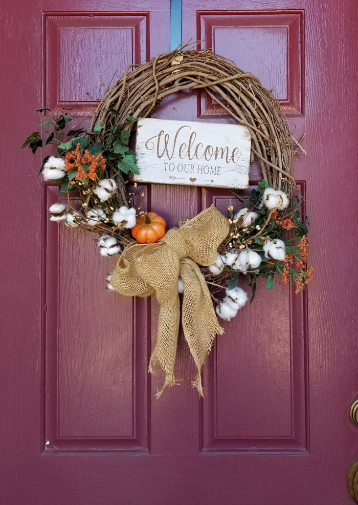 diy wreath fall