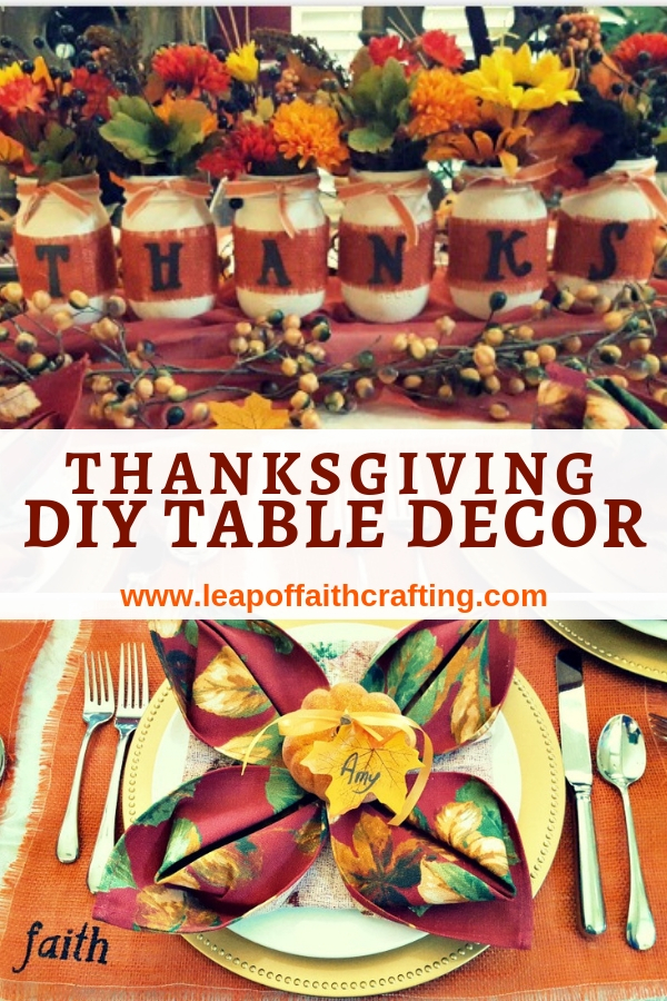 rustic thanksgiving decor diy pin