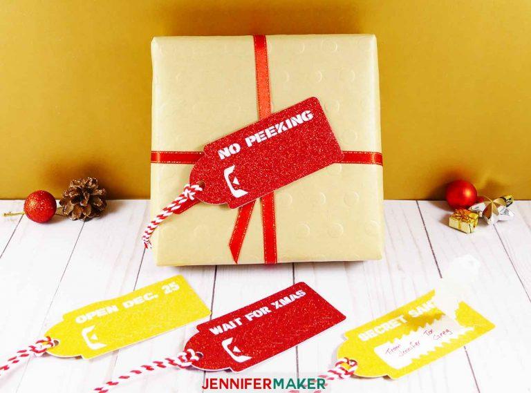 tear strip reveal gift tags x
