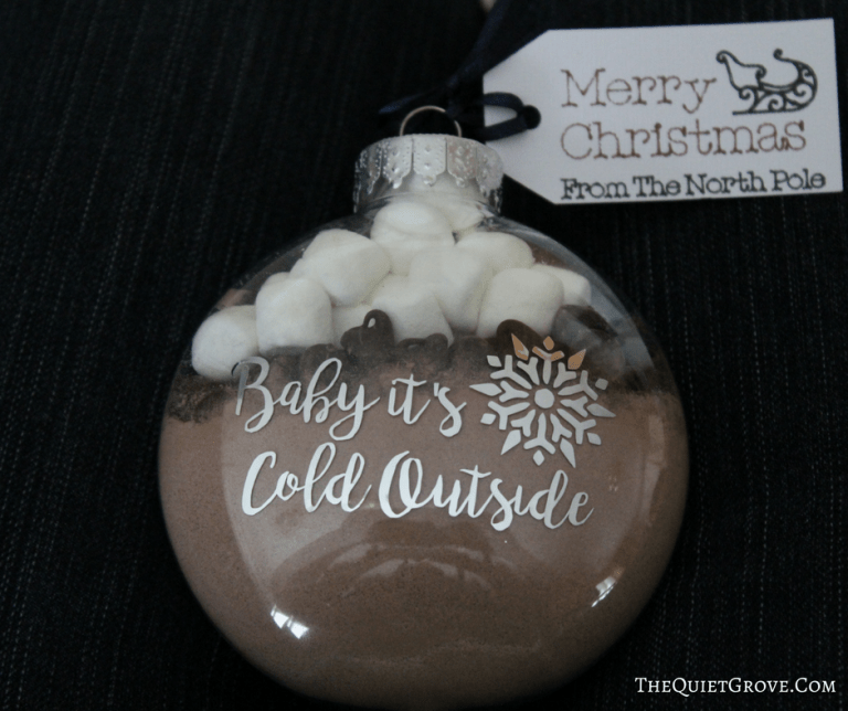 baby its cold outside ornament