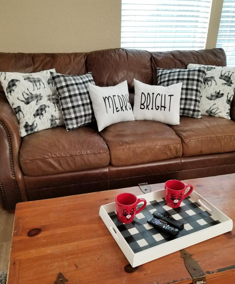 buffalo plaid decor