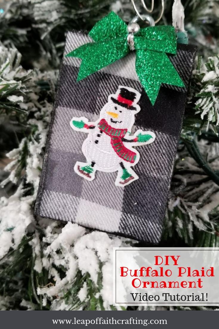 buffalo plaid ornaments pin