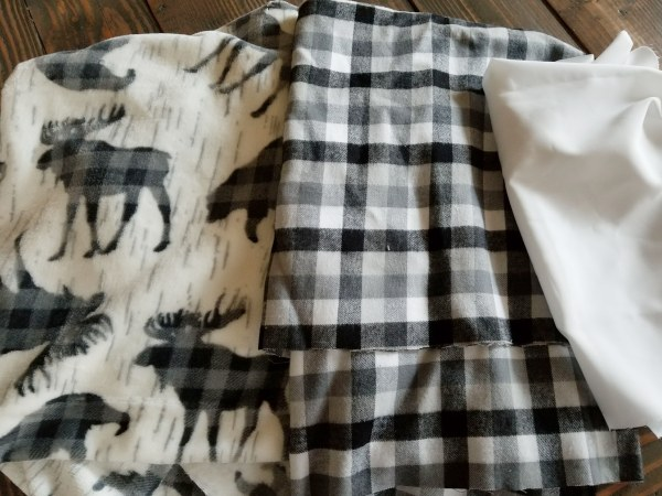 buffalo plaid material for DIY pillows