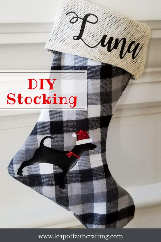 buffalo plaid stockings pin