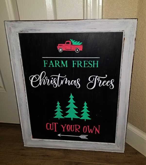 diy christmas tree sign