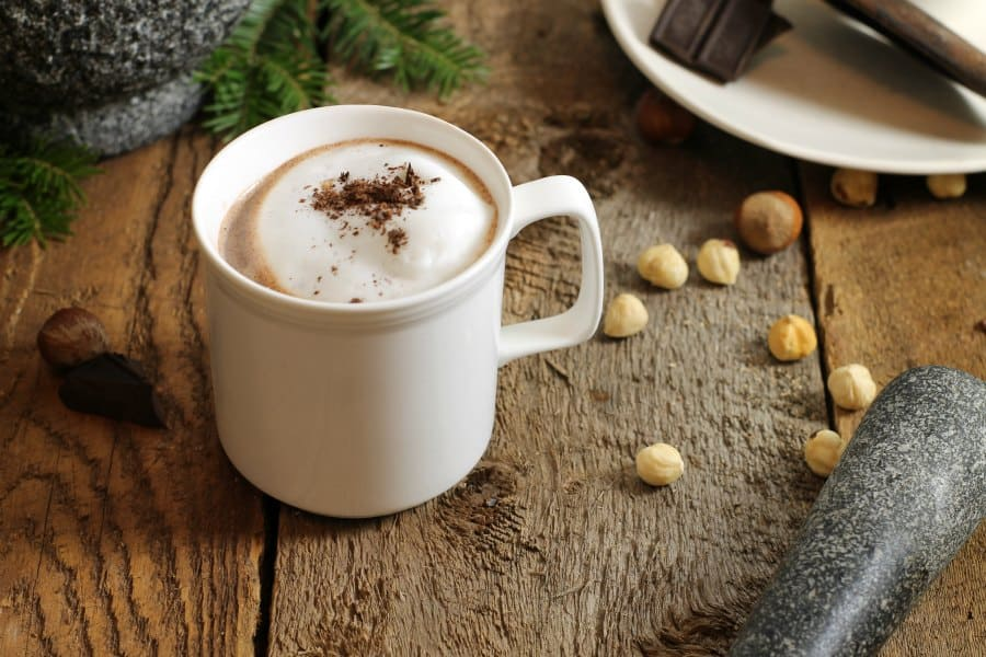 hazelnut vanilla infused hot cocoa