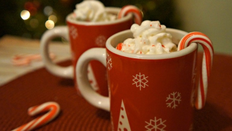 holiday hot cocoa dark chocolate and peppermint x
