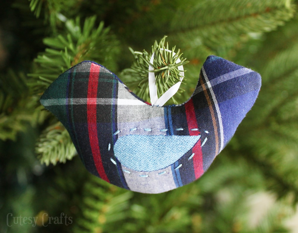 ornaments out of loved ones clothes