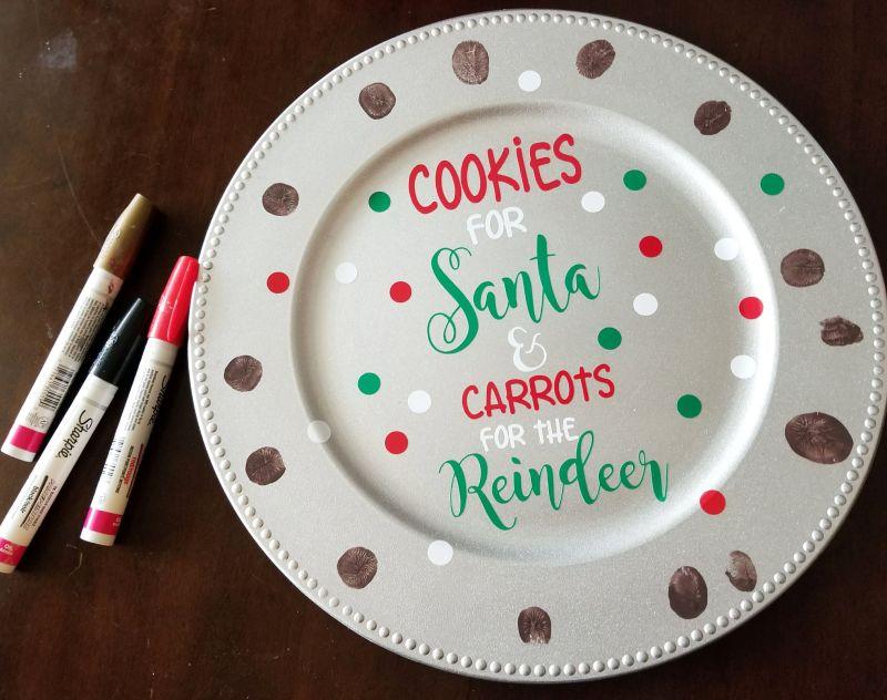 christmas cookie plate