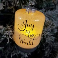 How to Make Light Up Glitter Ornaments