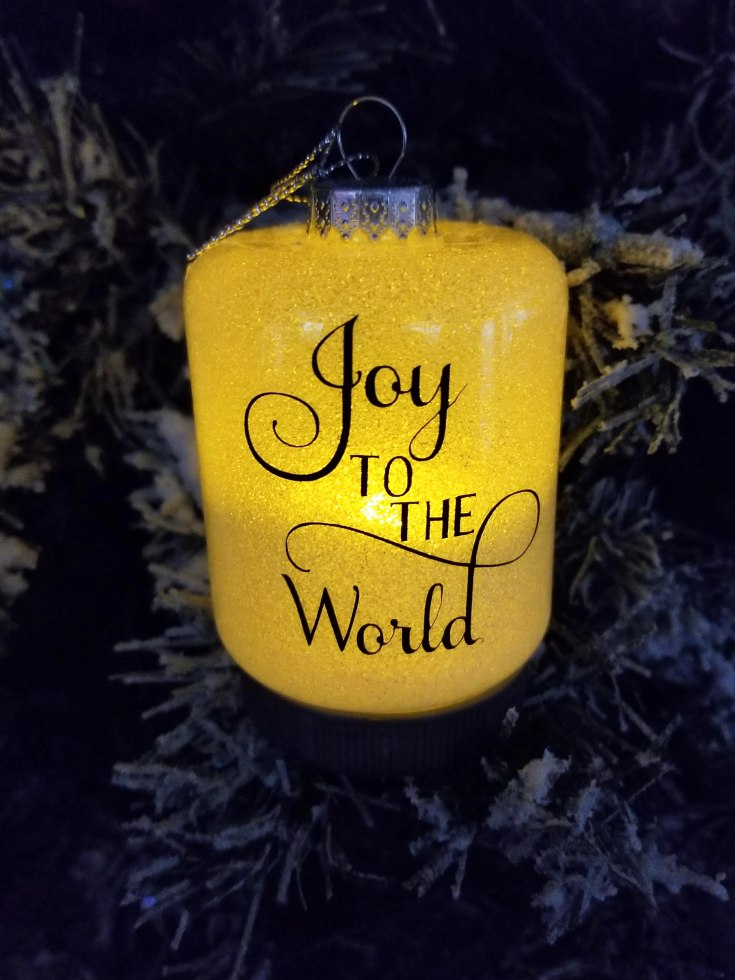 dollar store ornaments that light up