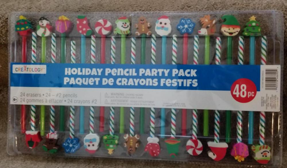holiday pencil party pack