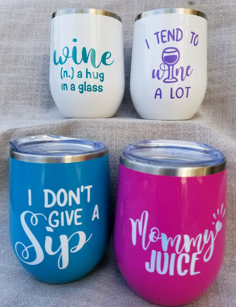 diy personalized gifts with funny wine svgs