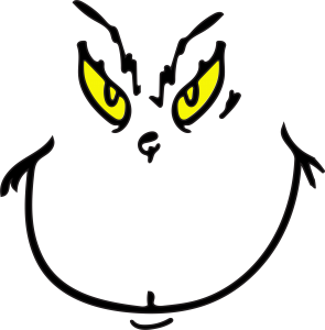 grinch face svg file